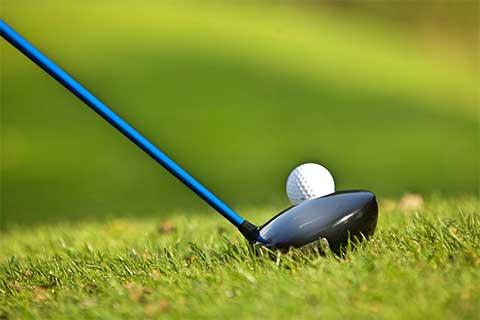 scratched golf club