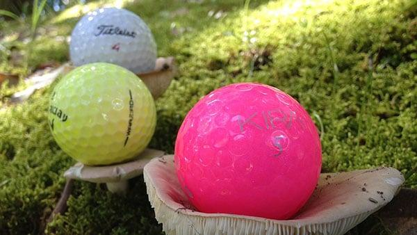 Colored Golf Balls For High Visibility