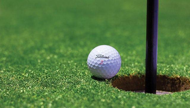 Titleist Golf Ball on the Green