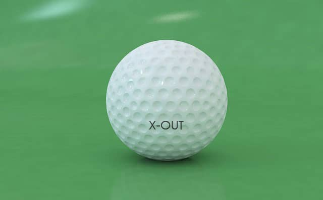 X Out Golf Ball On The Course