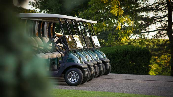 towing a golf cart