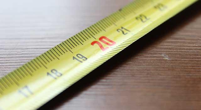 measuring golf club shaft