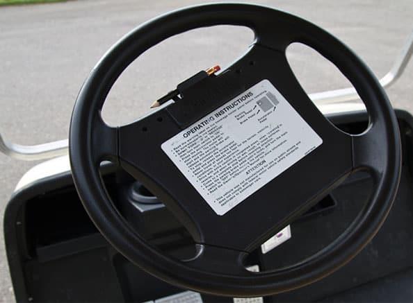Aligned Golf Cart Steering Wheel