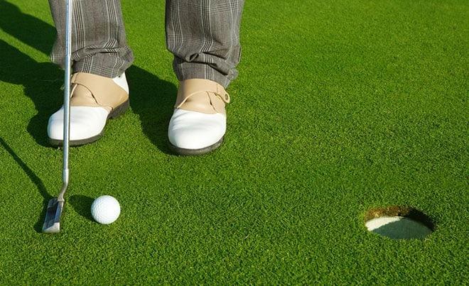 measuring golf putter length
