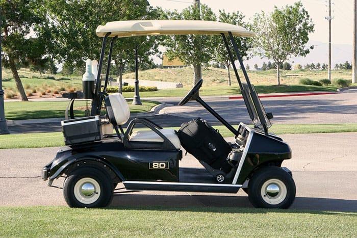 ezygo golf cart with adjusted drive belt