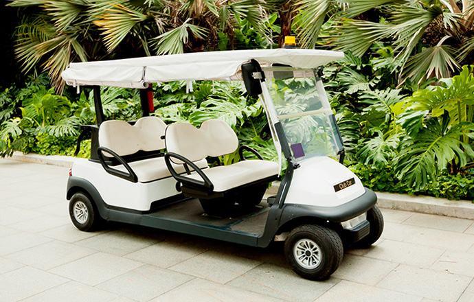 Changing oil in a Club Car golf cart