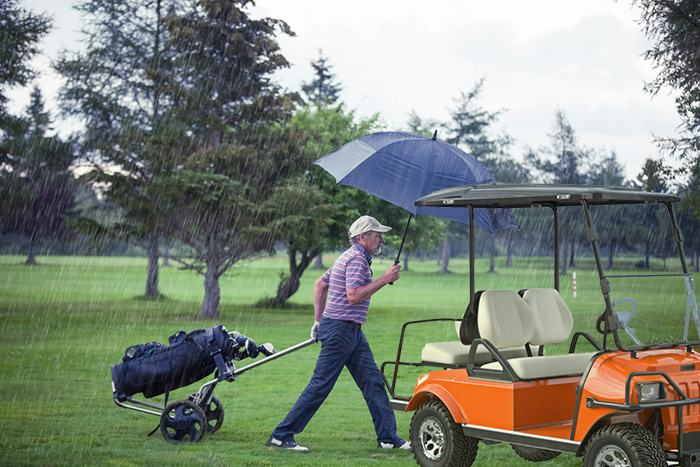 Golf cart won't run after getting wet