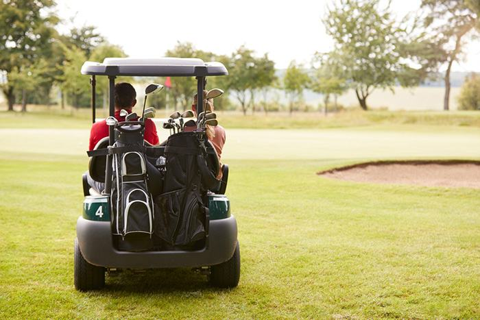 Clogged golf cart muffler