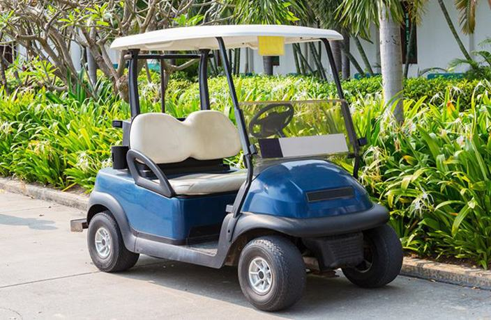 Club Car golf cart leaking oil