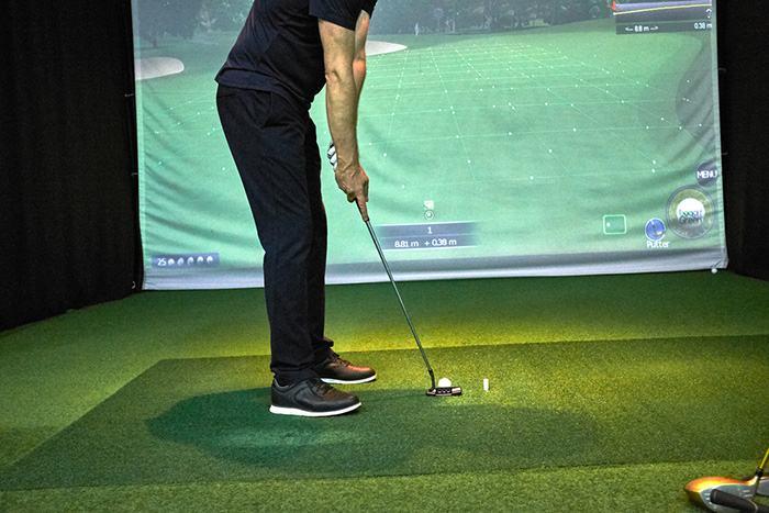 Golf simulator projector setup