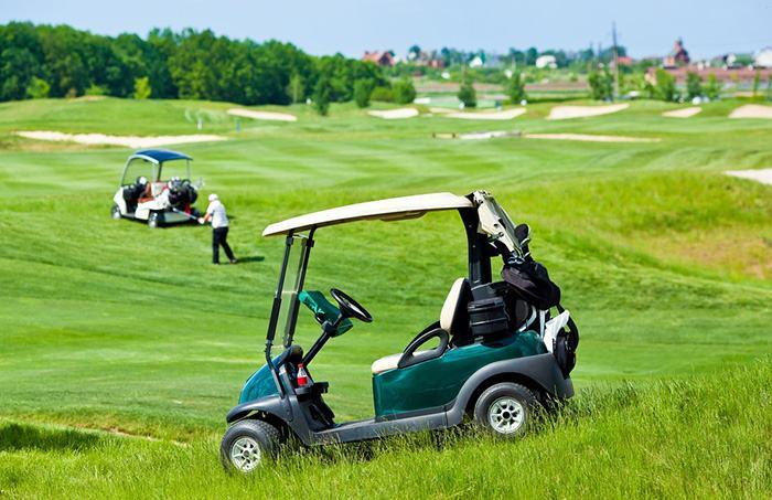 Clean golf cart gas tank