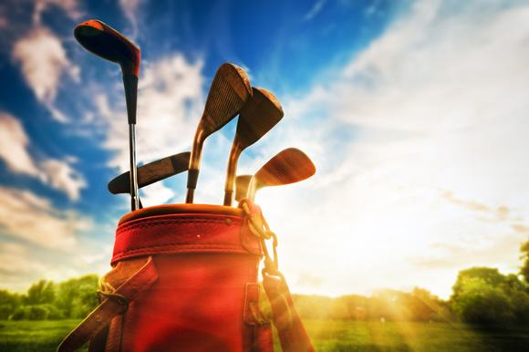 Golf clubs stored in hot weather