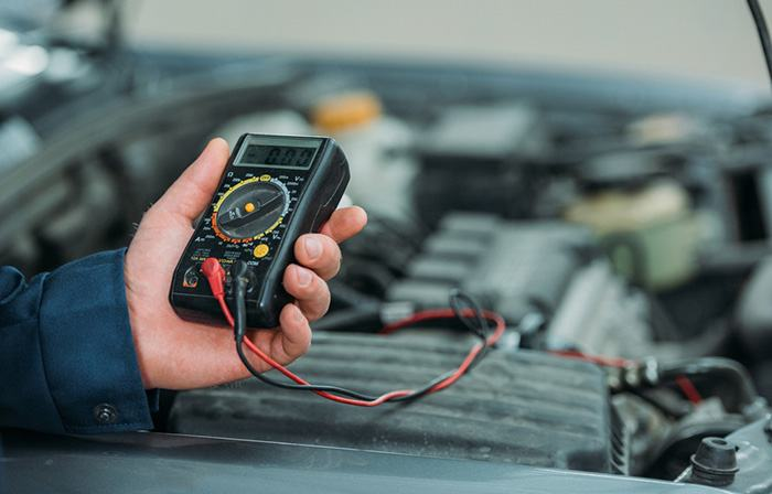 testing golf cart voltage reducer
