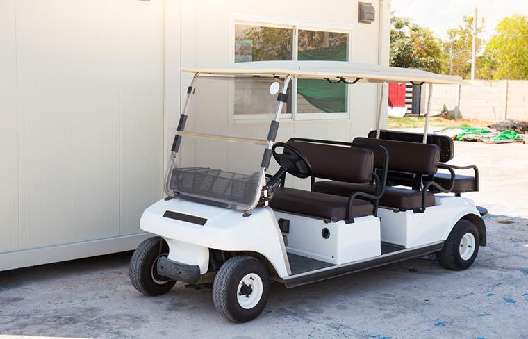 Gold cart with Predator 670 engine installed